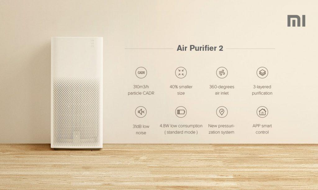 เครื่องฟอกอากาศ mi air purifier 2