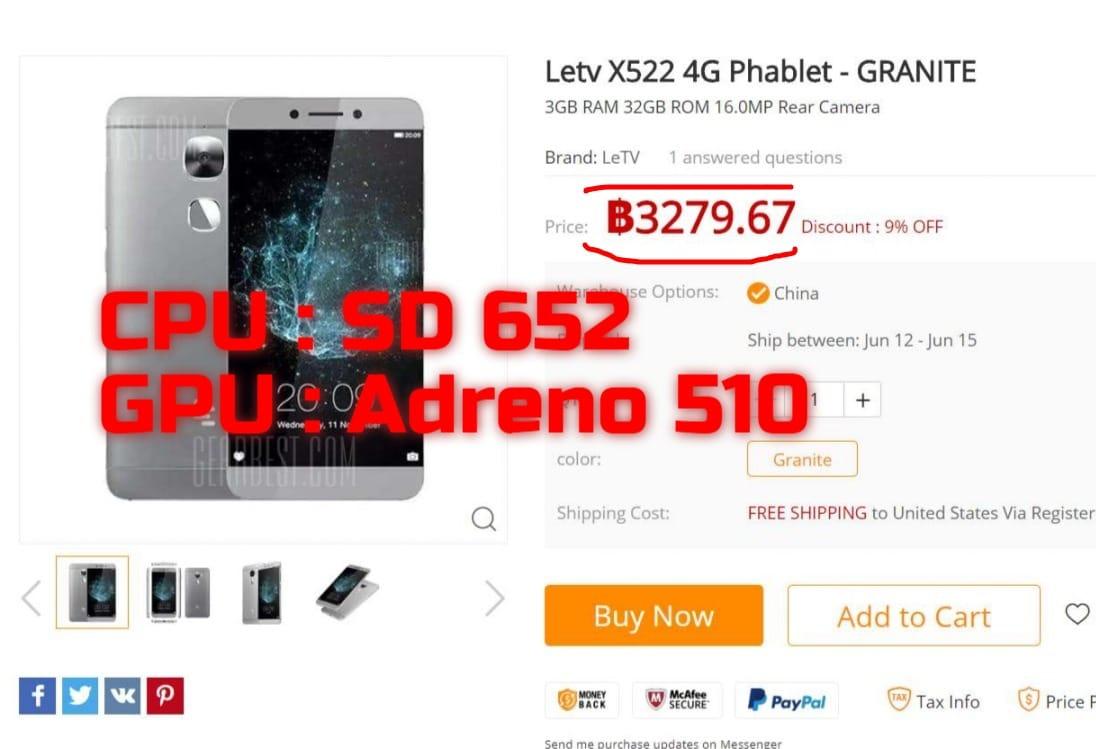 มือถือ letv x522 cpu sd652 มือถือไม่เกิน 3000 บาท