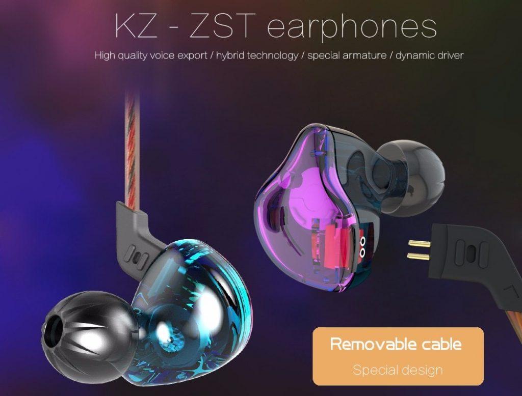 หูฟัง KZ ZST Wired On-cord