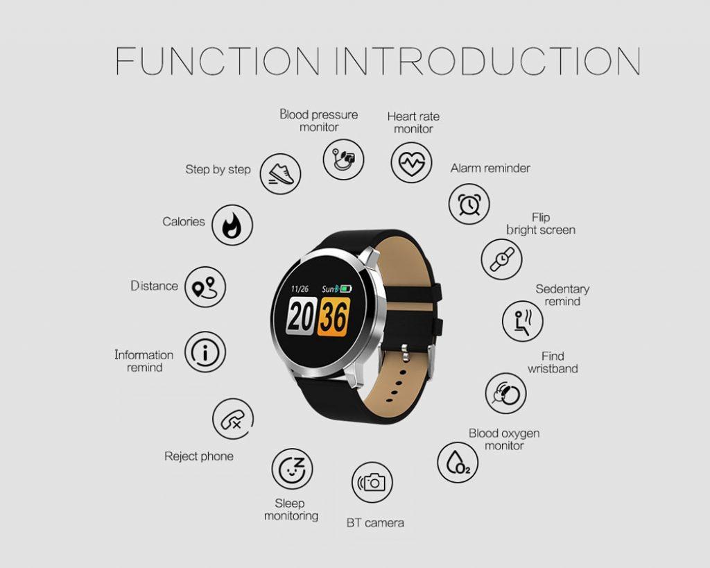 NEWWEAR Q8 Smart Watch - BLACK 252