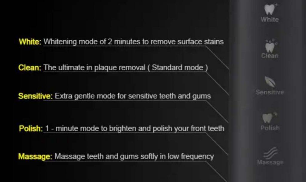 แปรงสีฟันไฟฟ้า 5 โหมดทำความสะอาด