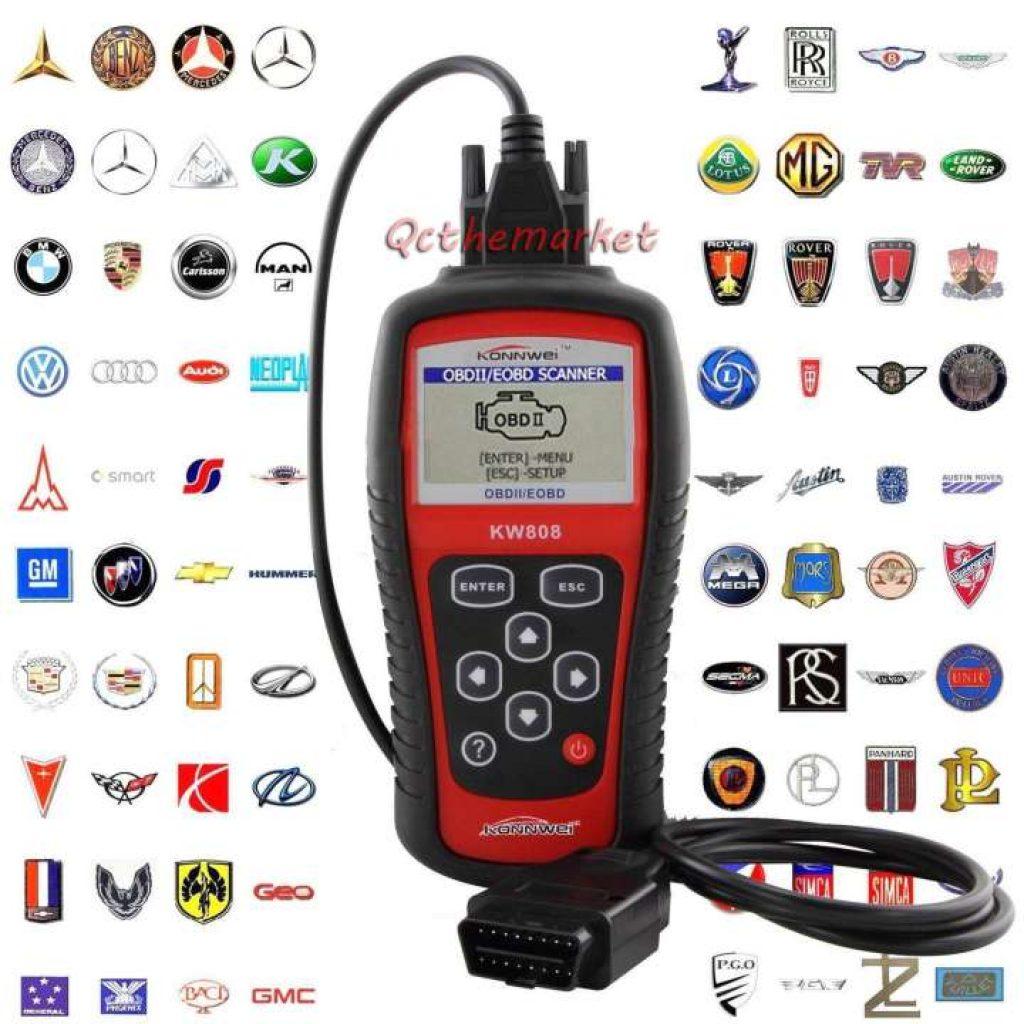 เครื่องสแกนรถยนต์ MaxiScan MS509 KW808 OBD2 OBDII สแกนเนอร์eobd รถเครื่องอ่านโค้ด Tester