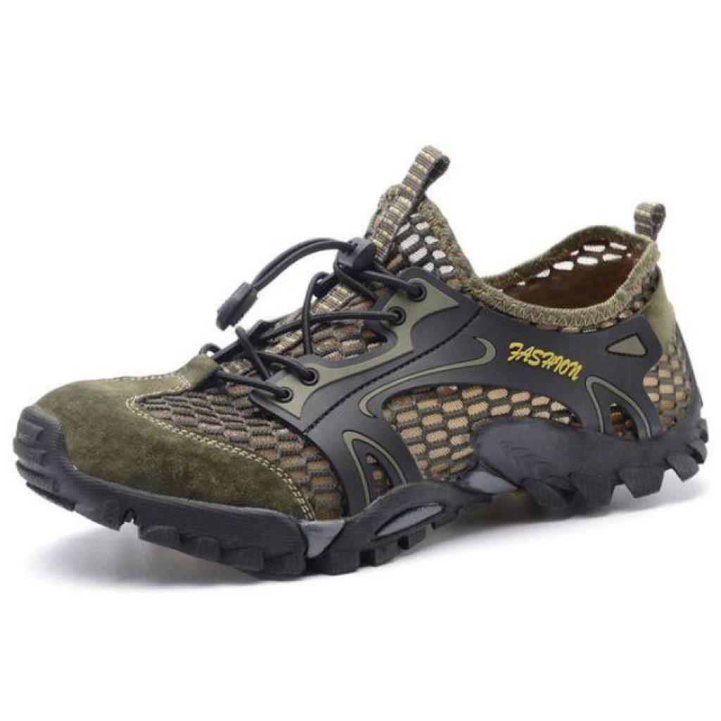 เลือกซื้อ รองเท้าเดินป่า กลางแจ้งปีนเขารองเท้ากีฬาระบายอากาศและป้องกันการลื่นรองเท้าลุยน้ำ