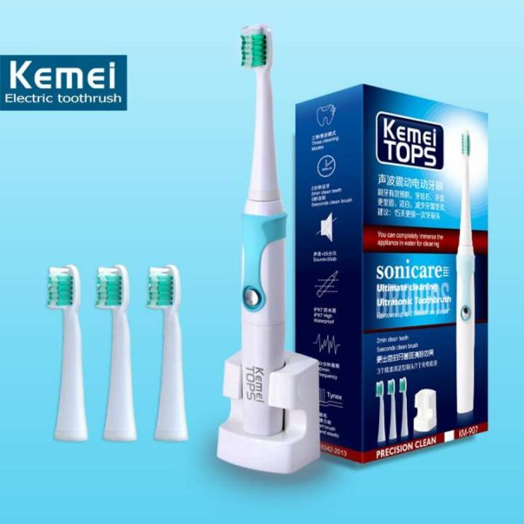 แปรงสีฟันไฟฟ้า อุลตร้า Beauty KEIMEI รุ่น KM-907