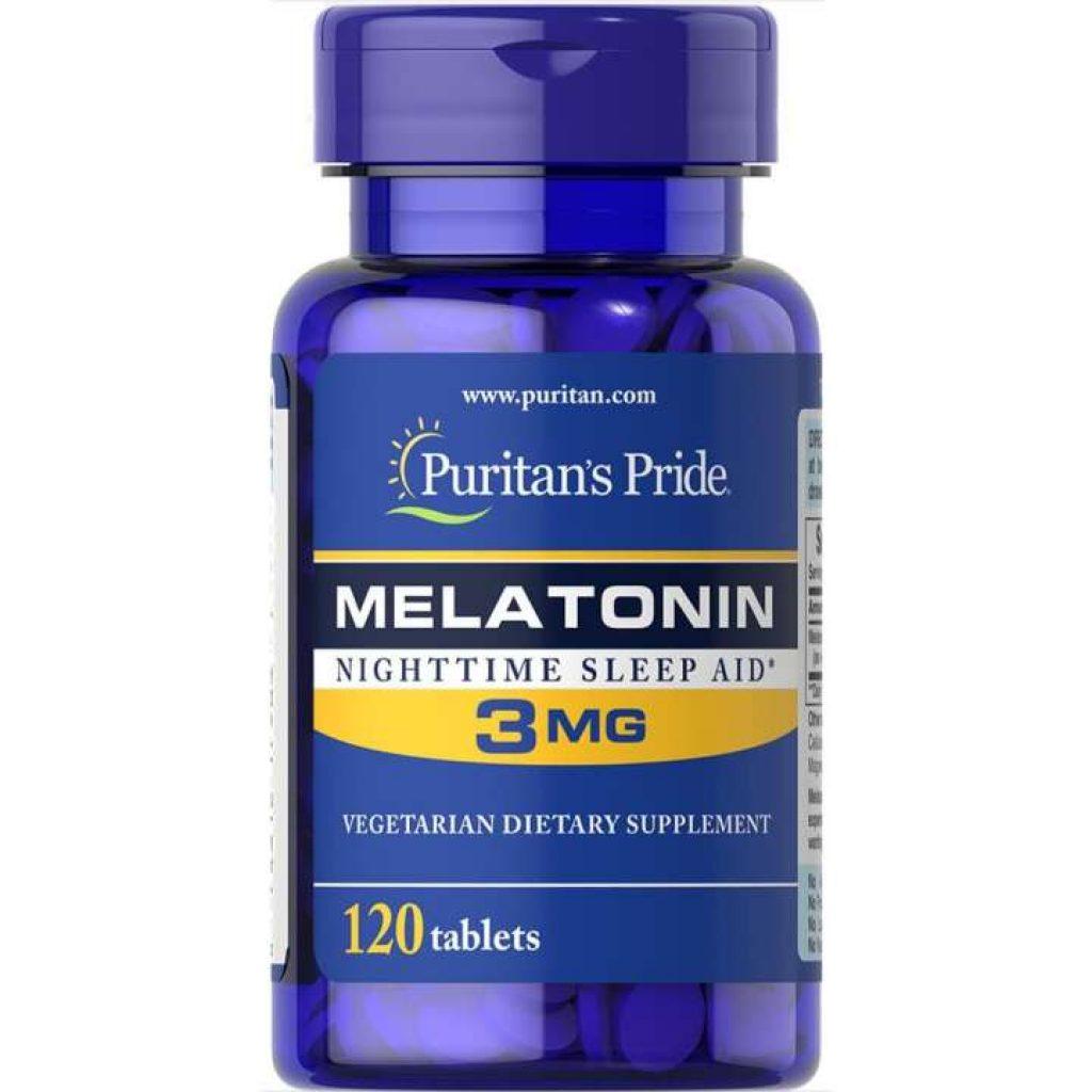 เมลาโทนิน Melatonin 3 Mg / 120 Tablets Puritan's Pride