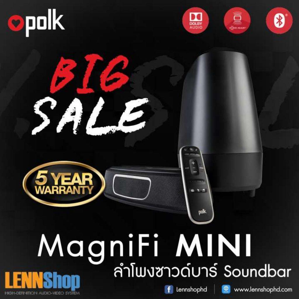 POLK MagniFi Mini Soundbar with Wireless Subwoofer and Bluetooth