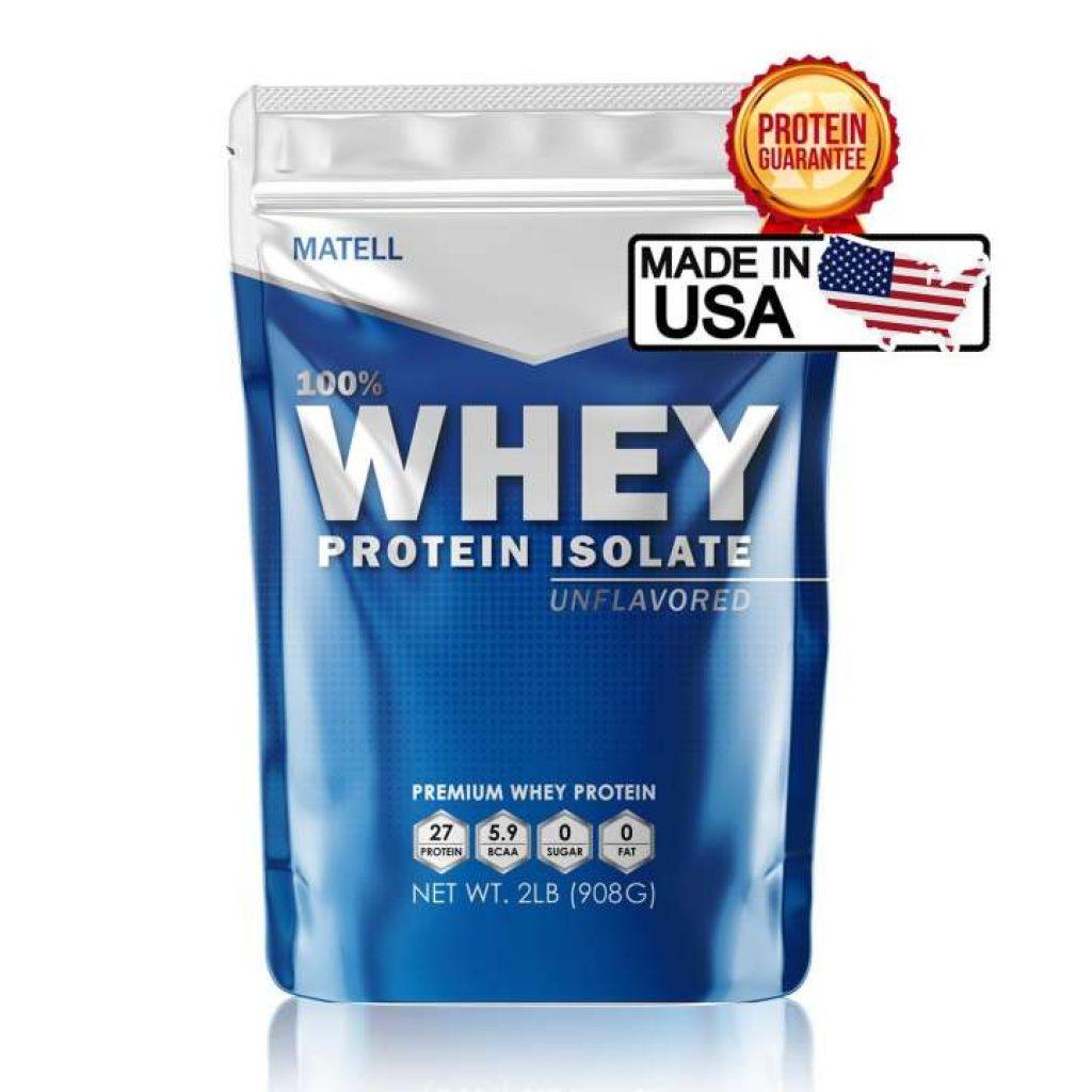 MATELL Whey Protein Isolate 2lbs เวย์ โปรตีน ไอโซเลท 908กรัม ลดไขมัน + เพิ่มกล้ามเนื้อ
