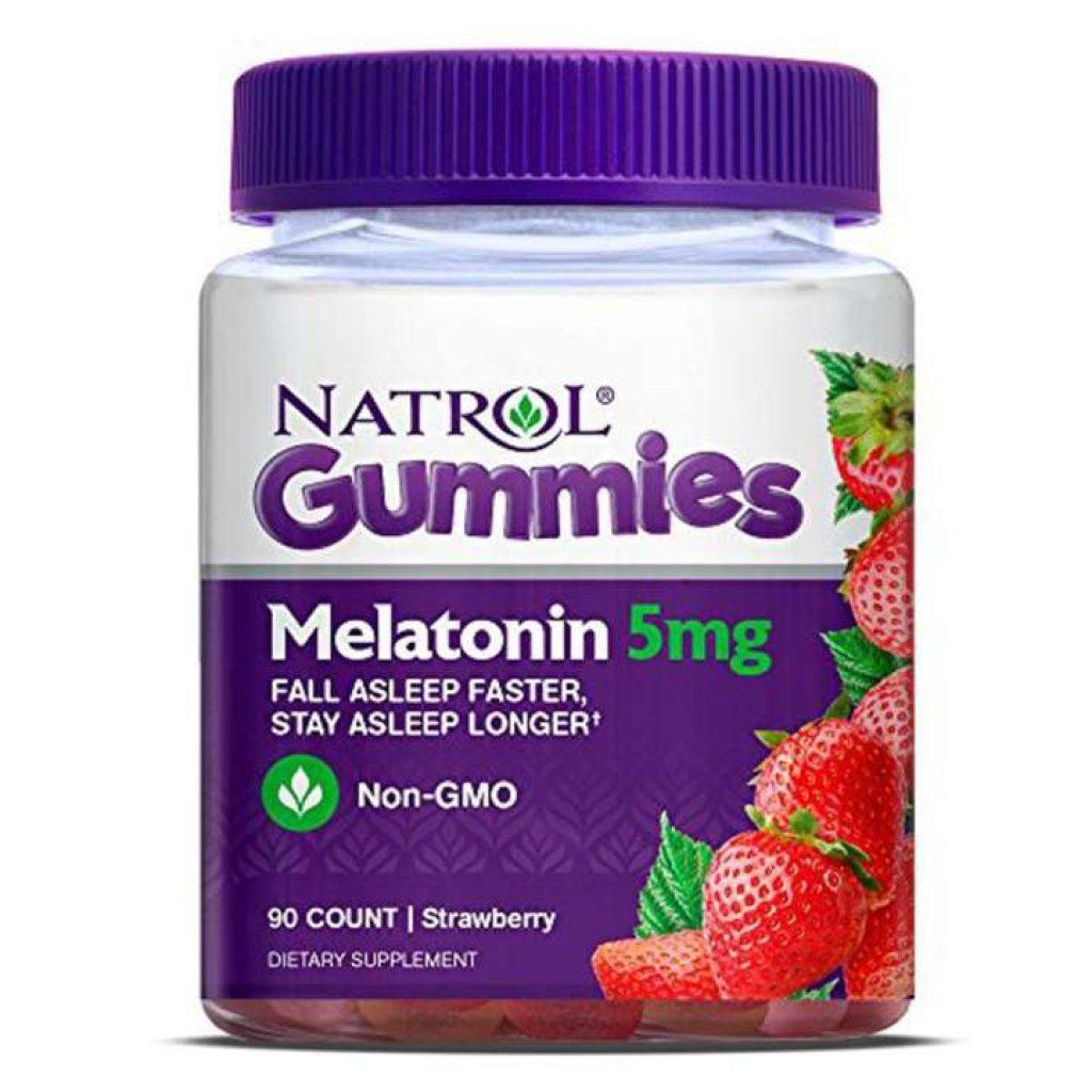 Natrol เมลาโทนิน Melatonin gummies 5mg 90เม็ด ช่วยนอนหลับ
