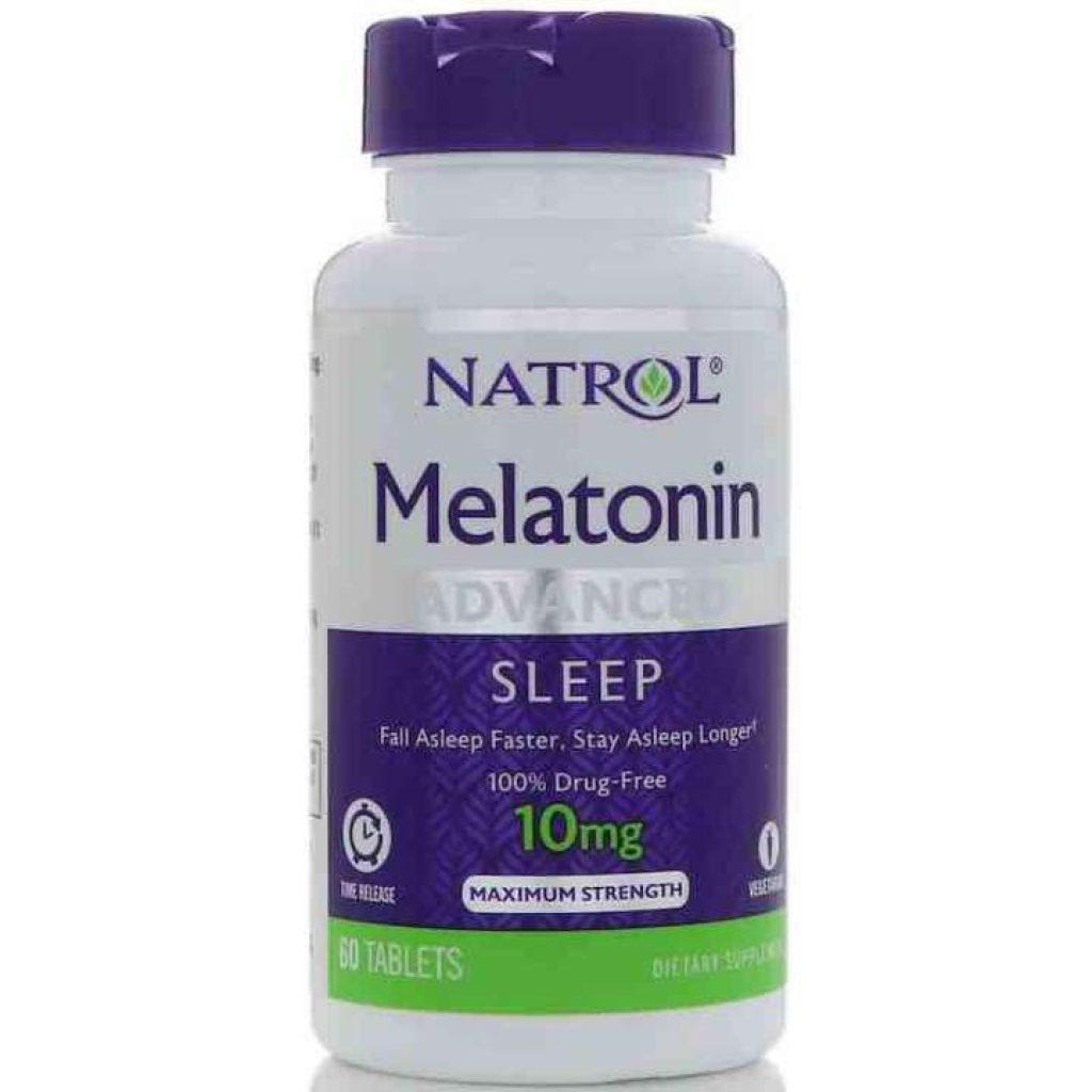 Natrol Melatonin เมลาโทนนิน สูตร Advanced Sleep, Time Release หลับลึก หลับยาวนานทั้งคืน