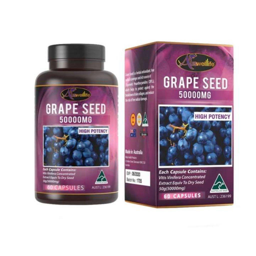 Auswelllife Grape Seed 50000 mg. สารสกัดจากเมล็ดองุ่น
