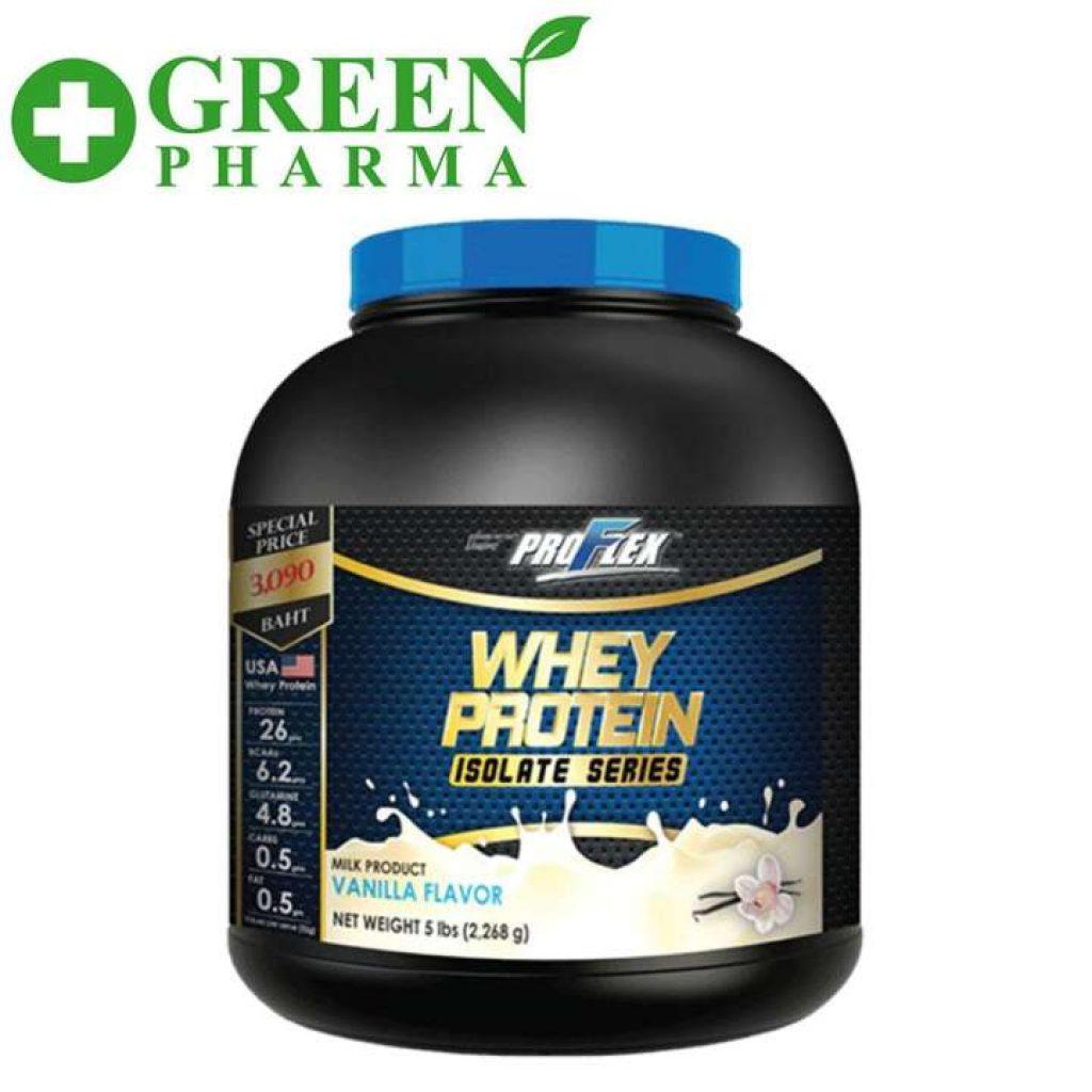 Proflex Whey Protein Isolate Vanilla 5 lbs. เวย์โปรตีน ไอโซเลท รสวนิลา ขนาด 5 ปอนด์