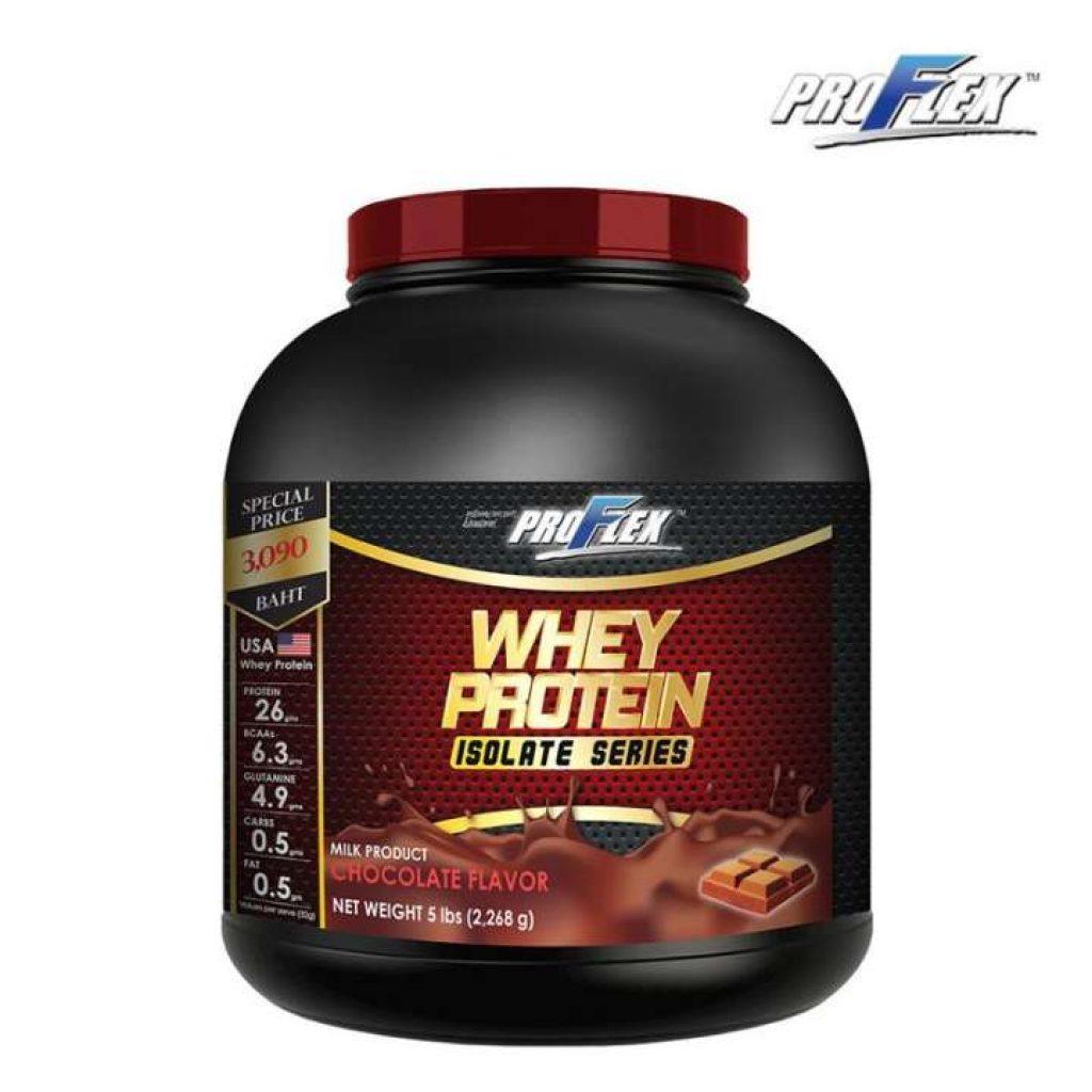 โปรเฟล็กซ์ เวย์โปรตีน ไอโซเลท ช็อคโกแลต ProFlex Whey Protein Isolate Chocolate 5 lbs