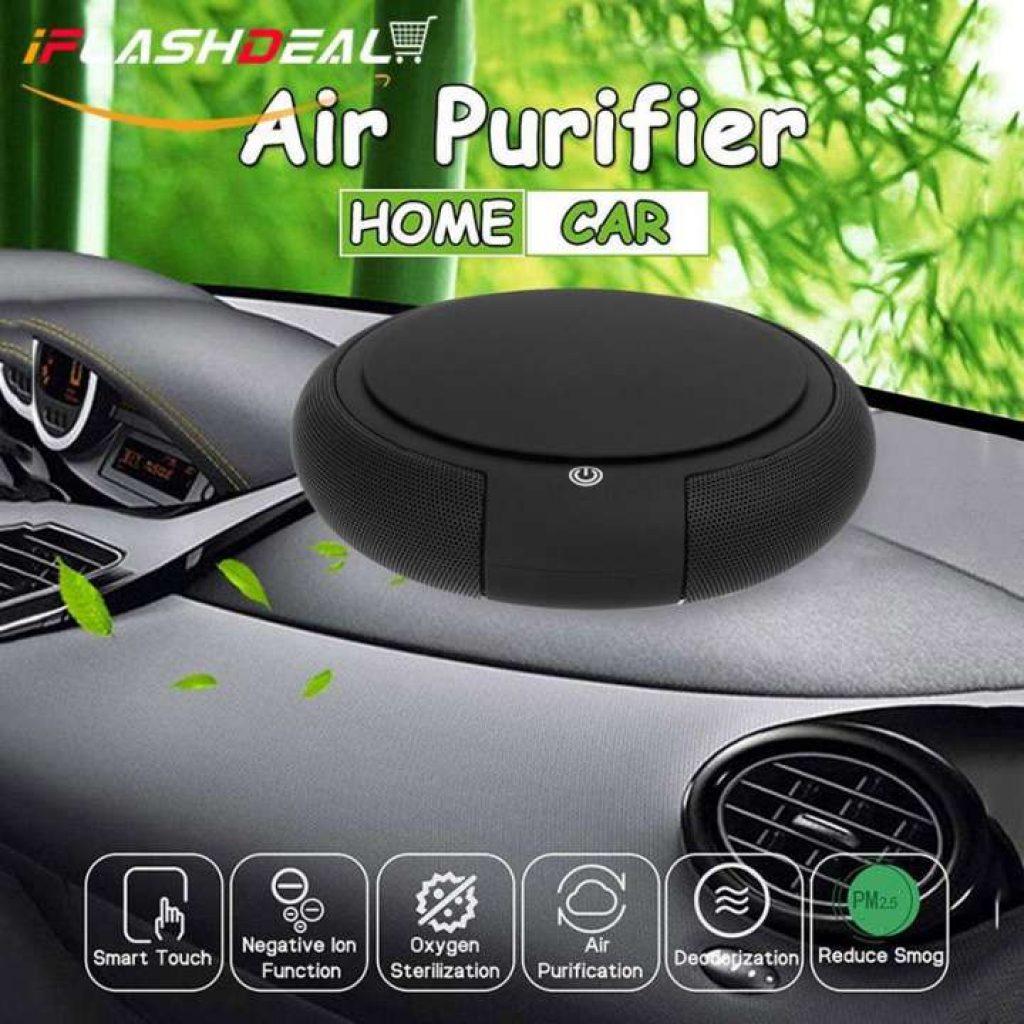iFlashDeal เครื่องฟอกอากาศในรถยนต์ pm2.5 Car Air Purifier