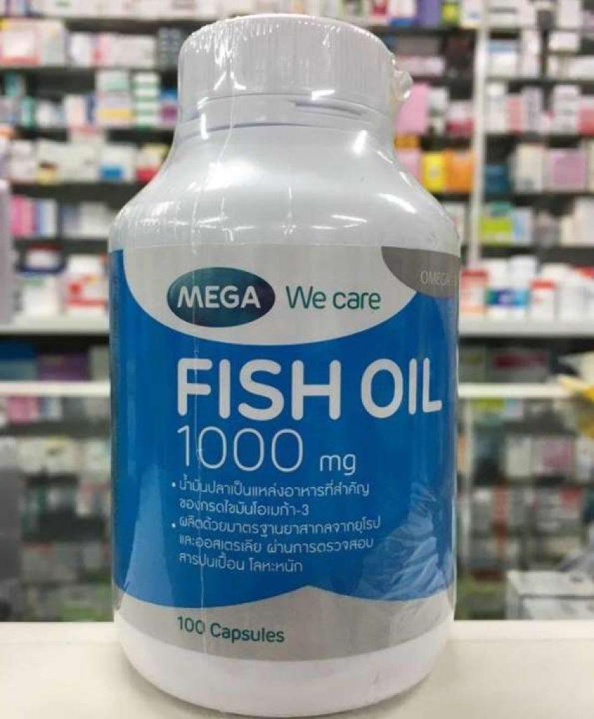 Mega We Care Fish Oil 1000mg น้ำมันปลา บำรุงสมอง