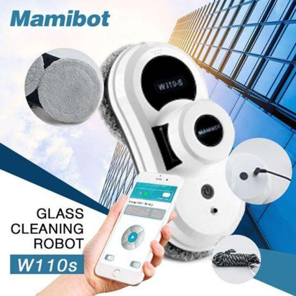 หุ่นยนต์เช็ดกระจกอัตโนมัติ Mamibot W110s Window cleaner