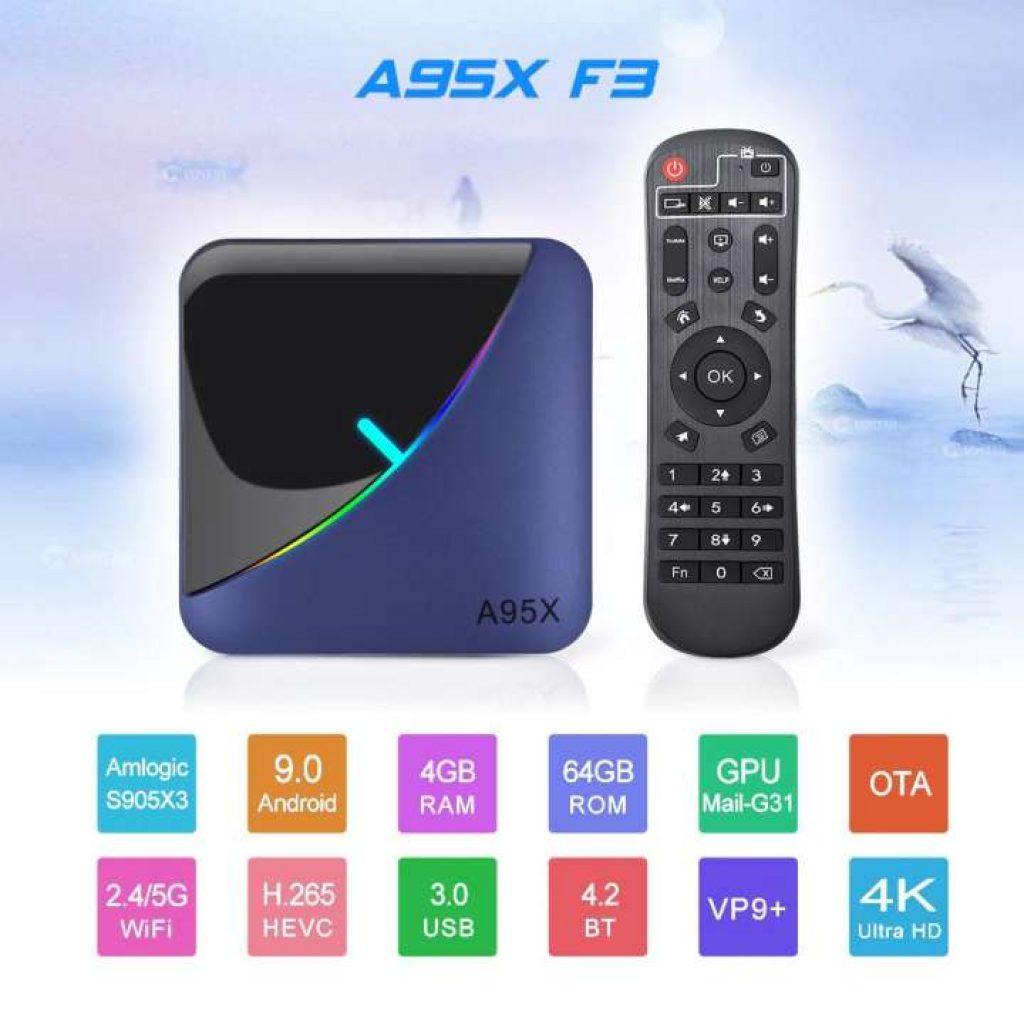 Android TV Box รุ่น A95X F3 Amlogic S905X3
