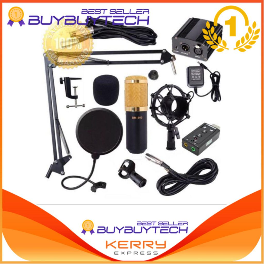 Alitech ไมค์ BM800 Condensor Microphone ไมค์โครโฟนอัดเสียง ตัดเสียงรบกวน