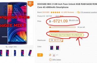 Doogee Mix 2 แรม 6 GB ราคา 6,700 บาท