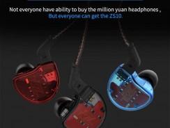 หูฟัง KZ ZS10 Gearbest คูปองส่วนลด โปรโมตชั่นเหลือ 1,311 บาท
