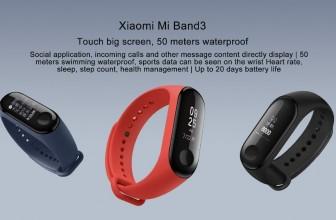 Xiaomi mi band 3 ซื้อที่ไหน เปิดขายแล้ว ดำน้ำลึก 50 เมตร IP67 50 meters